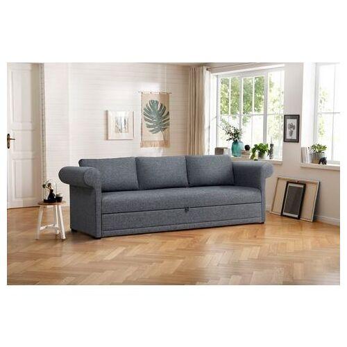Home affaire 3-zitsbank Aiko geschikt als volwaardig bed  - 829.99 - grijs - Size: structuur