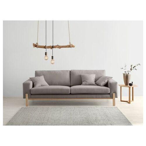 OTTO products 3-zitsbank Hanne Bekleding van natuurlijke materialen: katoen en linnen  - 649.99 - grijs