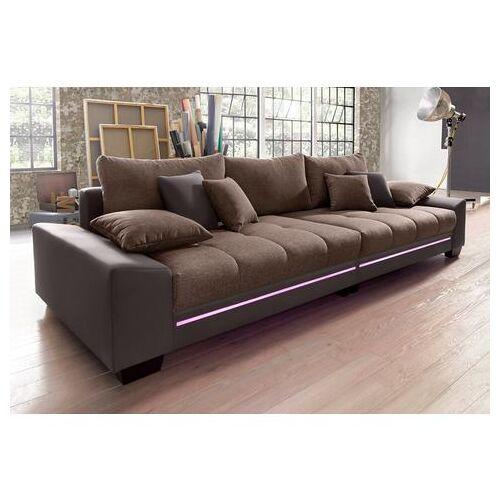 Via Megabank met verlichting, naar keuze met geluidssysteem  - 1079.99 - bruin - Size: Kunstleder SOFTLUX® / Struktur