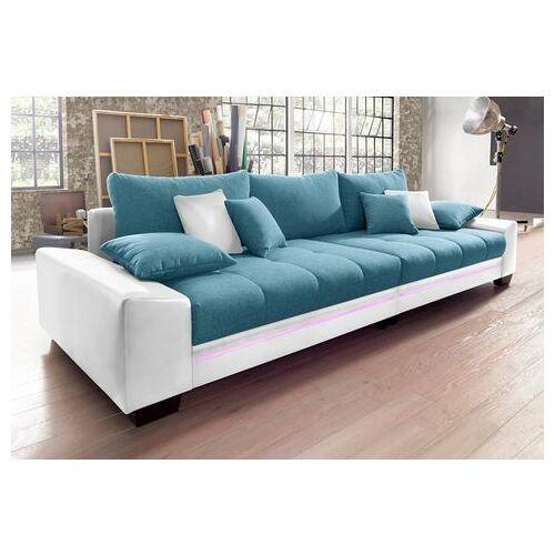 Via Megabank met verlichting, naar keuze met geluidssysteem  - 1079.99 - blauw - Size: Kunstleder SOFTLUX® / Struktur