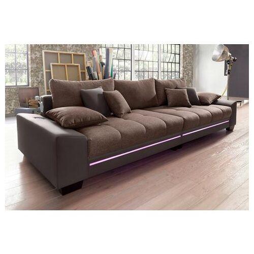 Via Megabank met verlichting, naar keuze met geluidssysteem  - 1299.99 - bruin - Size: Kunstleder SOFTLUX® / Struktur