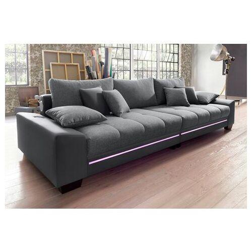 Via Megabank met verlichting, naar keuze met geluidssysteem  - 1299.99 - grijs - Size: Kunstleder SOFTLUX® / Struktur