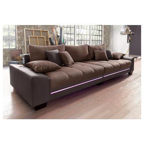 Via Megabank met verlichting, naar keuze met geluidssysteem  - 1459.99 - bruin - Size: SOFTLUX®-imitatieleer/structuur