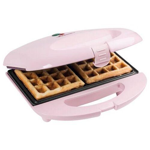 bestron wafelijzer Sweet Dreams voor belgische wafels, in retrodesign, voor 2 wafels, roze  - 25.99 - roze