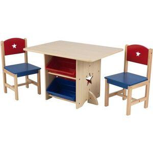 KidKraft® kinderzithoek »Tafel met opbergdozen en 2 stoelen, sterretjes« (3-delig)  - 139.99 - multicolor
