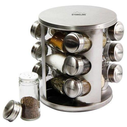 STONELINE kruidencarrousel individueel in te vullen (12-delig)  - 44.99 - zilver