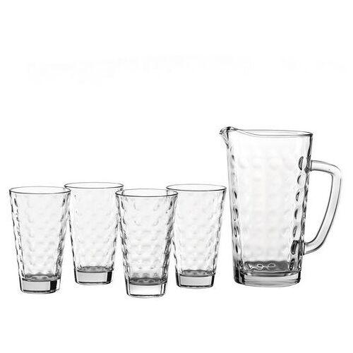 LEONARDO glazenset Optic 1 kan, 4 bekers (set, 5-delig)  - 21.99 - wit