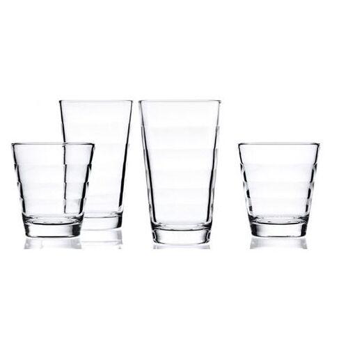 LEONARDO glazenset Onda elk 6 kleine en grote bekers (set, 12-delig)  - 24.99 - wit