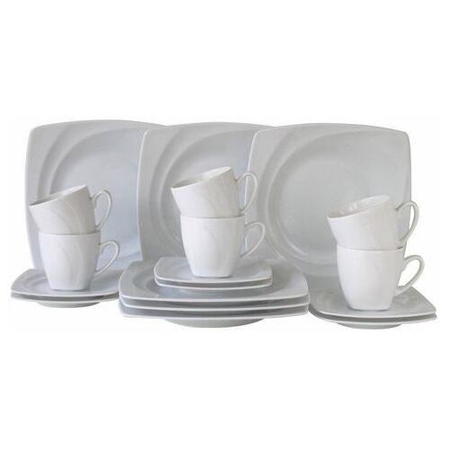 CreaTable koffieservies Celebration vaatwasserbestendig (set, 18 delig)  - 49.99 - beige
