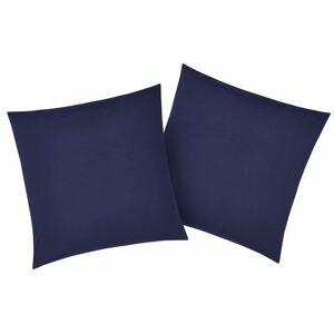 my home kussenovertrek Luisa met een licht glanseffect (2 stuks)  - 7.99 - blauw - Size: 2x 40x40 cm
