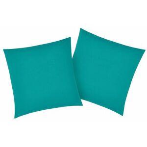 my home kussenovertrek Luisa met een licht glanseffect (2 stuks)  - 7.99 - groen - Size: 2x 40x40 cm