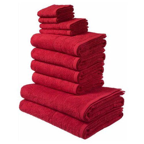 MY HOME Handdoekenset Inga  - 24.99 - rood