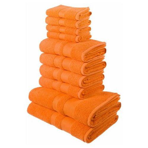 my home Handdoekenset, my Home, »Ada«, met afgezet randdessin  - 29.99 - oranje