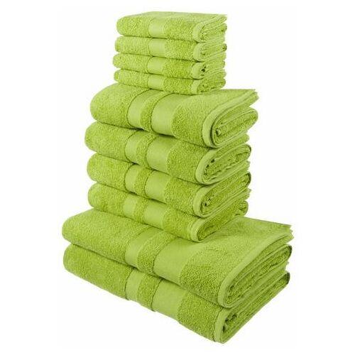 my home Handdoekenset, my Home, »Ada«, met afgezet randdessin  - 29.99 - groen