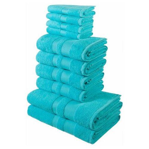 my home Handdoekenset, my Home, »Ada«, met afgezet randdessin  - 29.99 - blauw
