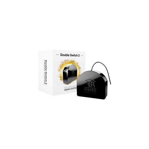 Fibaro Inbouw-badkamerschakelaar Relais Inbouw 2 schakelaar  - 49.99 - zwart