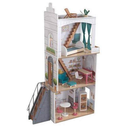 KidKraft® poppenhuis Rowan met balkon en dakterras  - 119.99 - wit
