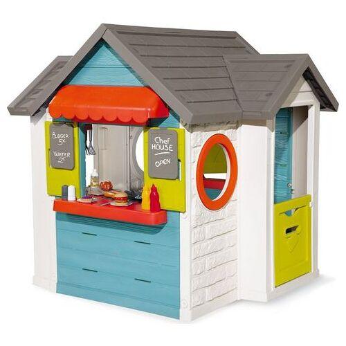 Smoby speelhuis Chef huis Made in Europe; tuinhuisje, restaurant en winkel in een  - 349.00 - multicolor
