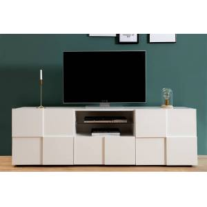 witte hoogglans tv meubel