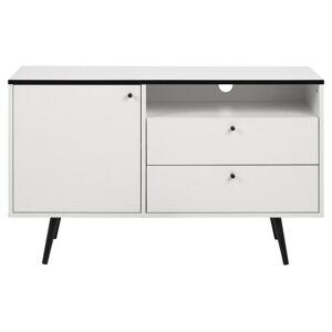 TV dressoir 124 cm wit melamine