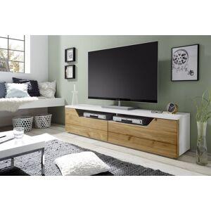 TV-lowboard wit eiken