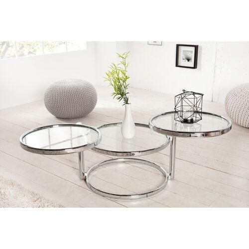 ronde glazen salontafel