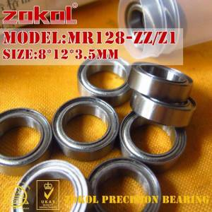 ZOKOL MR128 ZZ Z1 lager MR128ZZ mr128 zz Miniatuur MR128.OPEN. 2.5mm diepgroefkogellager 8*12*3.5mm 8*12*2.5mm