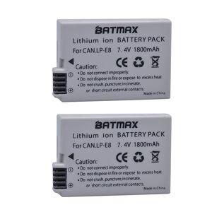 2Pcs 1800mah LP-E8 LP E8 LPE8 Camera Batterij voor Canon EOS 550D 600D 650D 700D Kus X4 X5 x6i X7i Rebel T2i T3i T4i T5i Batterie