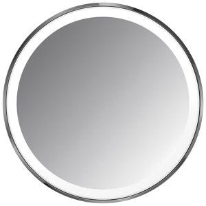 simplehuman - Sensor Mirrors 3 x vergroting 10cm Sensor spiegel Compact: Ronde, zwarte roestvrij staal, oplaadbare met etui