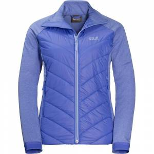 Jack Wolfskin Womens/dames Sutherland overschrijding van hybride Fleece jas Baja blauw 12 - Bust 38