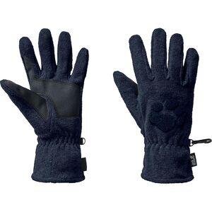 Jack Wolfskin Mens Paw geborduurd Fleece Winter Handschoenen Zwart XL - Palm 26-28cm