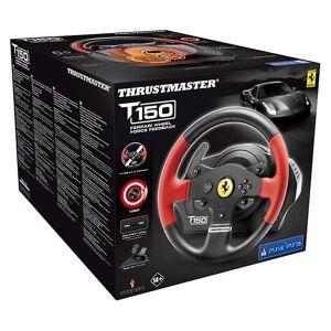 Thrustmaster T150 Ferrari Force Feedback Wheel & pedalen (PS4/PS3/PC)