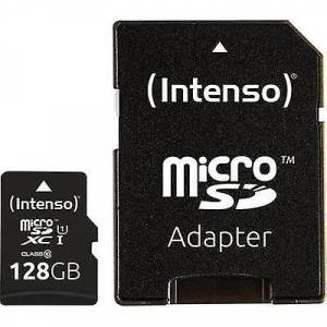 Intenso Premium microSDXC kaart 128 GB Class 10 UHS-I SD incl. adapter