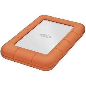 LaCie Rugged Mini 2.5 externe harde schijf 2 TB Silver, oranje USB 3.0