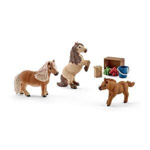 Schleich Horse Club miniatuur Shetland pony familie speelgoed figuren (41432)