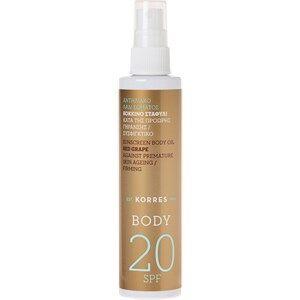 Korres Verzorging Zonneproducten Red Grape Sunscreen Dry Body Oil SPF 20 100 ml