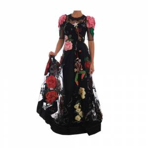 Dolce & Gabbana Crystal Fairy Tale Floral Lace Gown