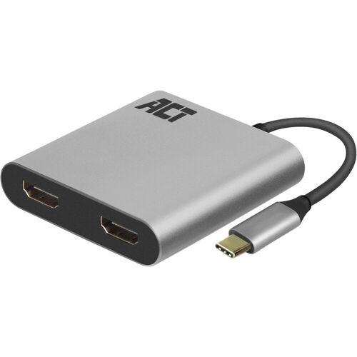 ACT USB-C naar Dual HDMI 4K Hub