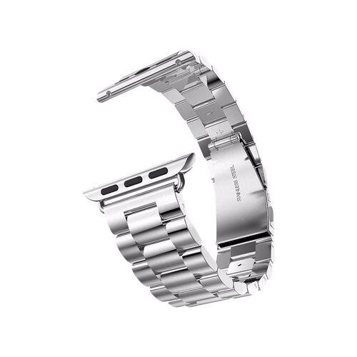 Just in Case Apple Watch 42/44mm Roestvrijstalen Bandje Zilver