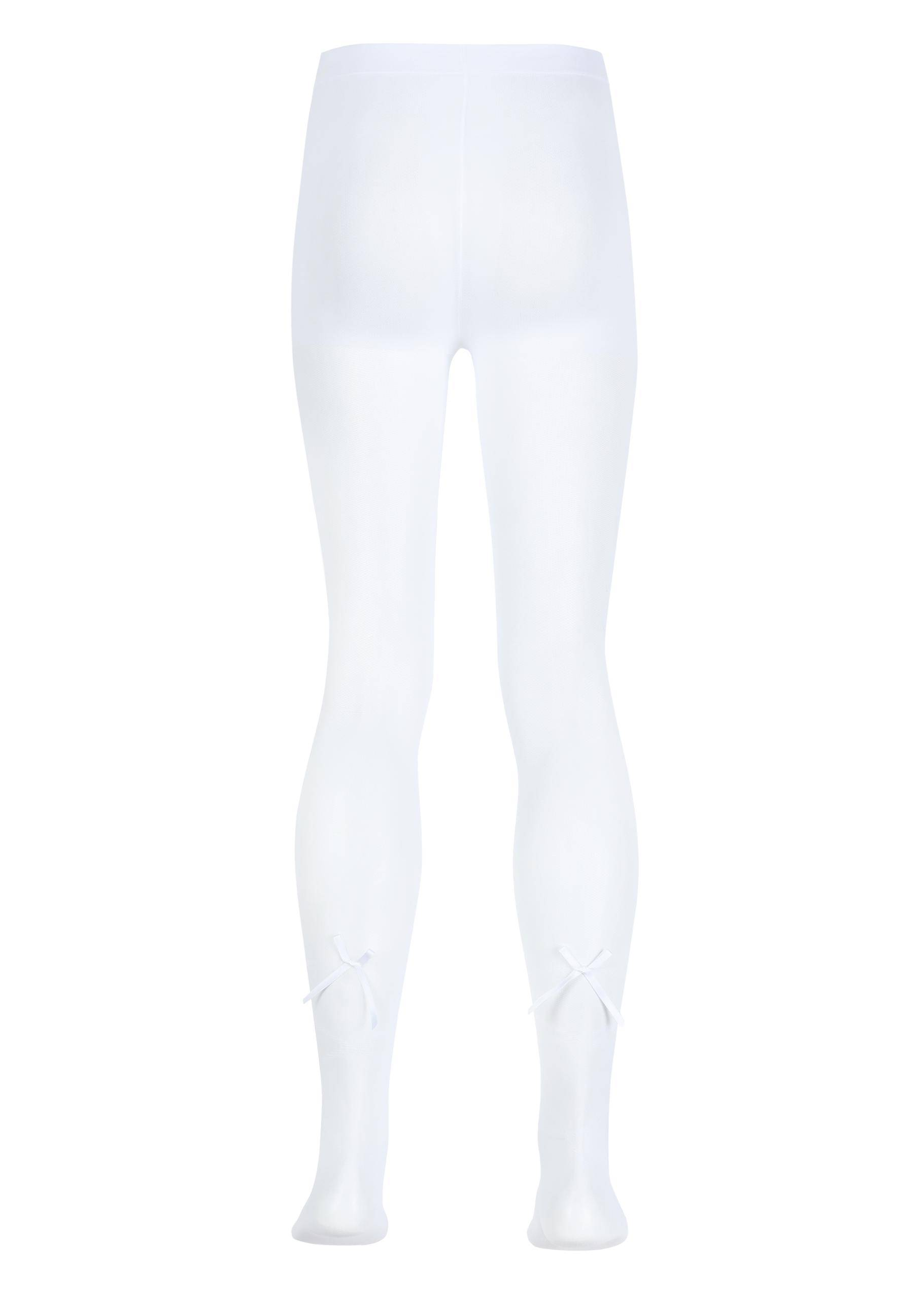 698edd032bbe6 Calzedonia Girl's fashion tights / White - 4315 - Intreccio+fiocco bianco /