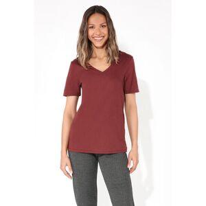 Tezenis V-neck Cotton T-shirt Red - 483T - Turnip Red S Women