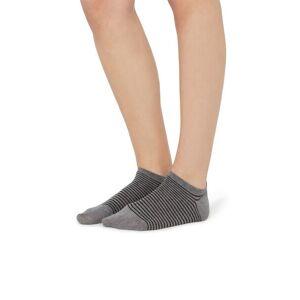 Tezenis Patterned Cotton Trainer Socks Grey - 8576 - Grey Stripes TU Women