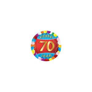 Merkloos 25x Gekleurde bierviltjes 70 jaar feestartikelen Verjaardag leeftijden onderzetters. Ook leuk als ca