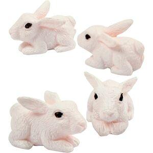 Merkloos Kleine knutsel konijntjes/haasjes 4 stuks