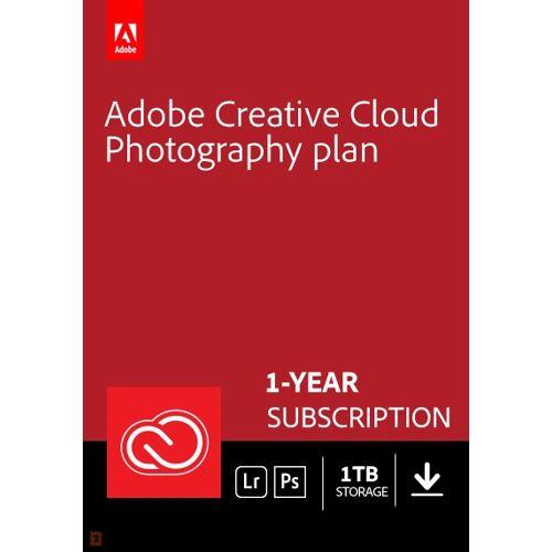 Adobe Photography Plan Creative Cloud 1 Gebruiker 1Jaar 1TB cloudopslag / Windows of Mac /  / Engels