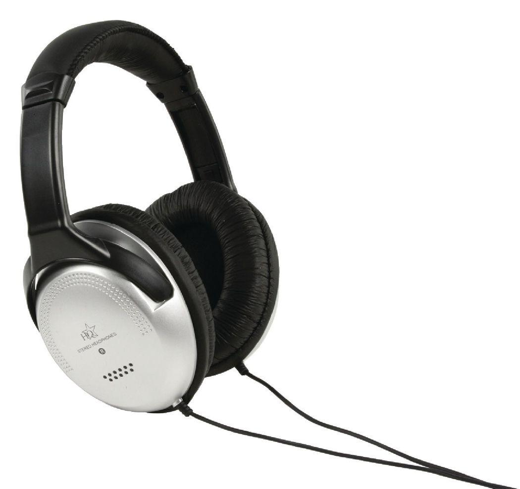 HQ Hoofdtelefoon Over-Ear 3.5 mm 6.0 m Zilver/Zwart