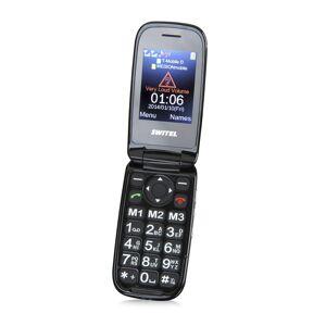 SWITEL Klapbare mobiele telefoon, twee kleuren scherm, dual-sim M270D MAPA