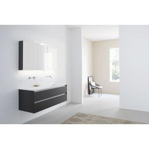 Thebalux Basic spiegelkast - 120x70cm - met bardolino eiken zijpanelen