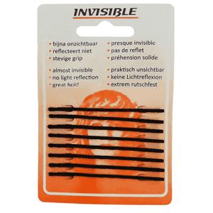 Invisible - Haarschuifjes - Zwart Lang 65mm - 8 Stuks