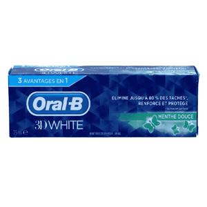 Oral-B 3D White Zachte Munt Tandpasta 75ml